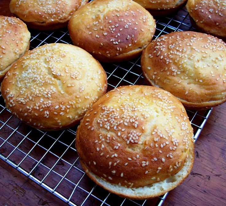 Gluten free hamburger buns.  Recipe from Free Range Cookies.  Her stuff can't be beat.
