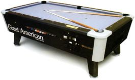 Black Diamond Pool Table - DBA / Coin Operated From Great American Recreation   Get more information about this game at: http://www.bmigaming.com/games-catalog-greatamerican.htm