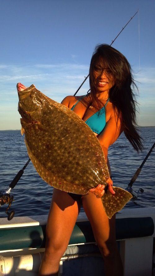Sexy woman shits a fish