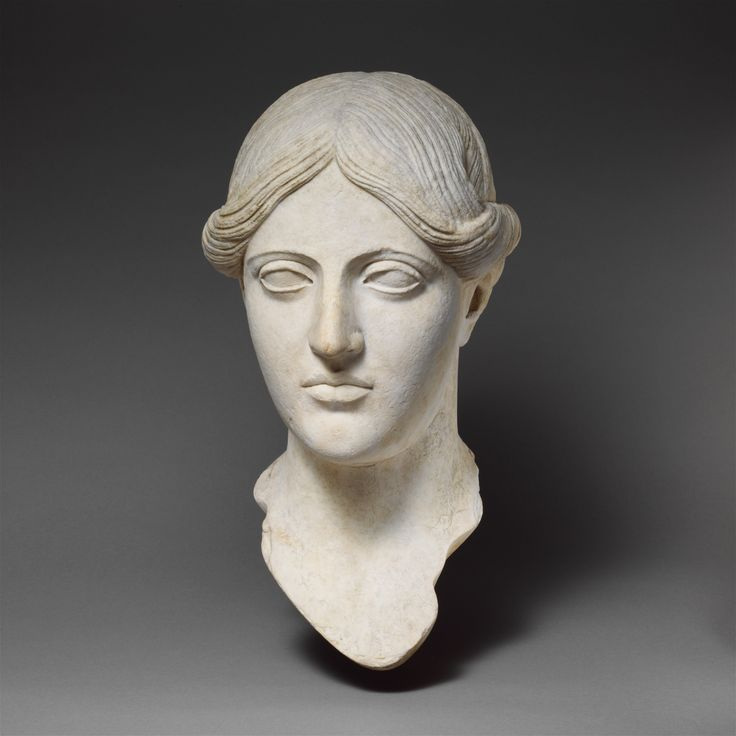 Marble head of a woman. Period: Imperial. Date: 1st�2nd century ...