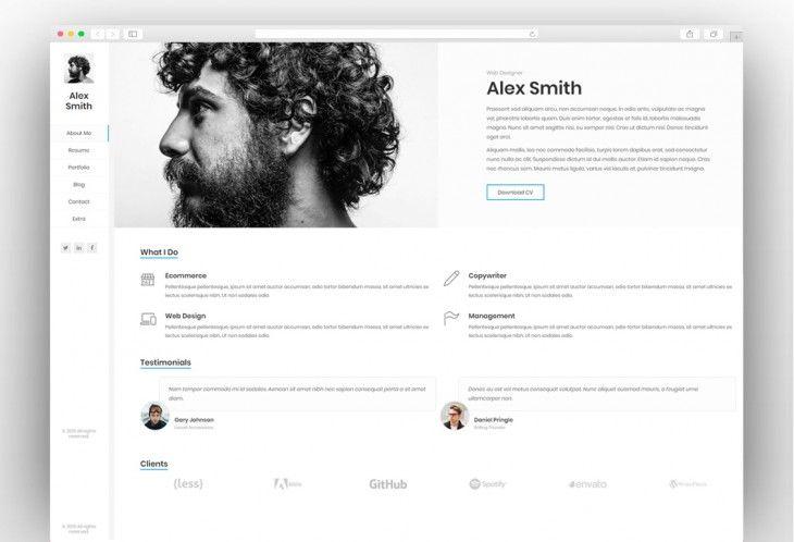 Resume Cv Vcard Portfolio Professional Wordpress Themes Online Cv Best Resume Format