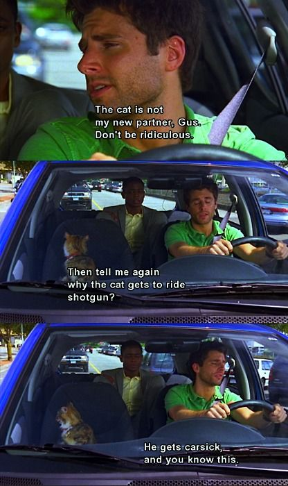 I love Psych. And Little Boy Cat.