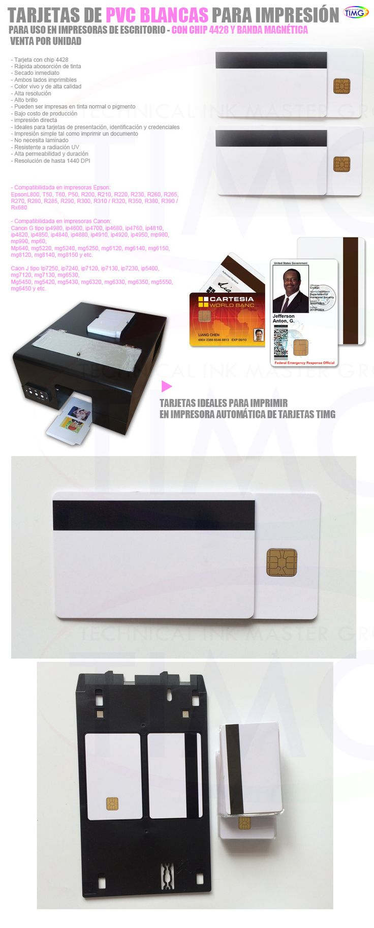 Tenemos nuevas tarjetas imprimibles de PVC con banda magnetica y Chip - http://www.suministro.cl/product_p/4003020004.htm#utm_sguid=166629,a4030b5c-1981-b171-6829-0d0cb123339c