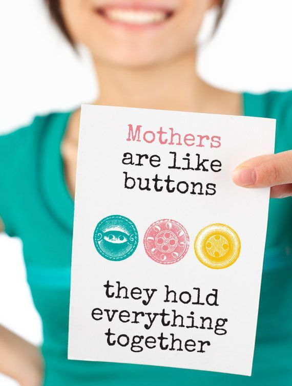 Mothers Day Vintage Button Art Print. by HappyCotswoldPrintCo, £4.00