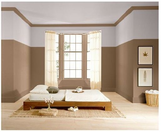 Two tone room paint schemes two tone paint colors for for Paint wall two colors