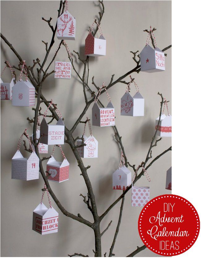 Home Shabby Home:DIY Advent Calendar Ideas