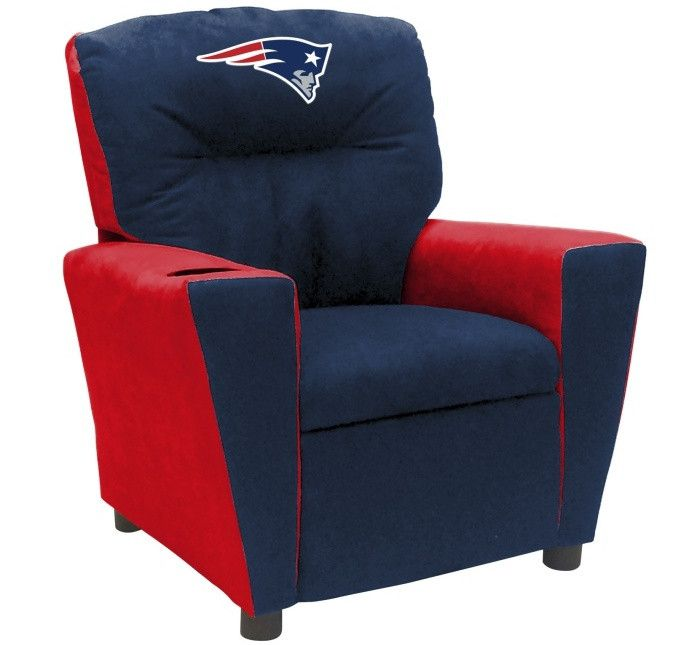 New England Patriots NFL Tween Fan Favorite Microfiber Recliner - Visit SportsFansPlus.com for more details!