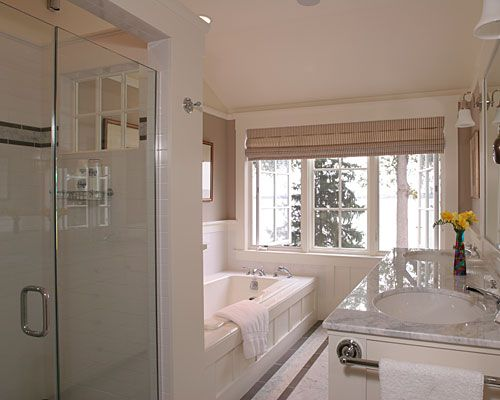 63 best images about master bath reno on pinterest for Narrow master bathroom