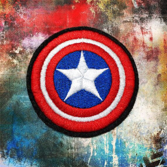 CAPTAIN AMERICA SHIELD Embroidered patches Iron-On Patches sew on patches