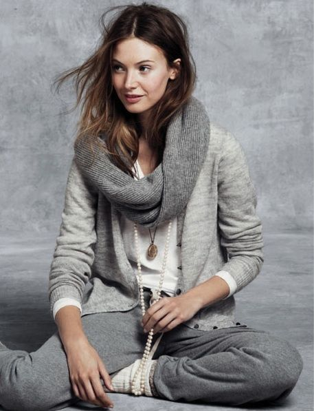 grey cosy outfit