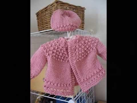 Golinha de trico para casaquinho de bebê - YouTube