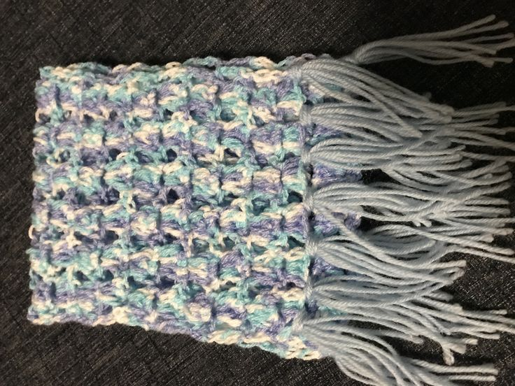 Angel stitch crochet scarf for Nina