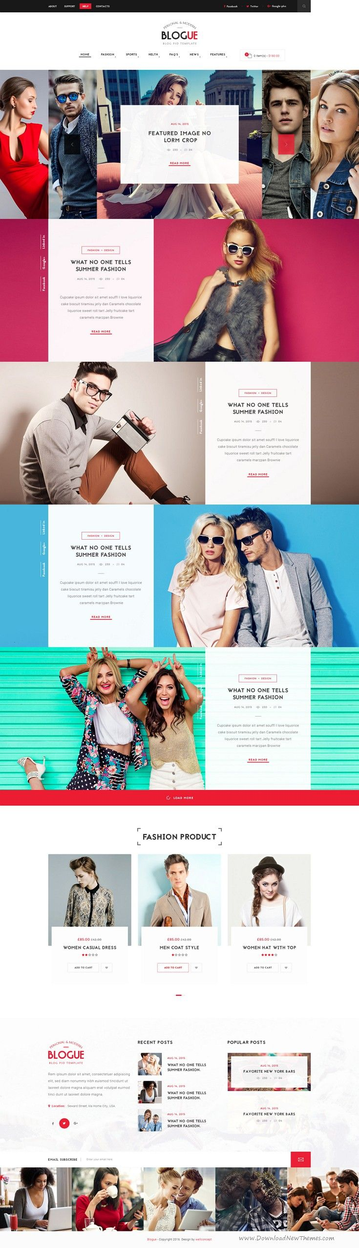 Blogue is a modern personal blog template with 5 different homepage layouts. #blogging #psdtheme Download Now!
