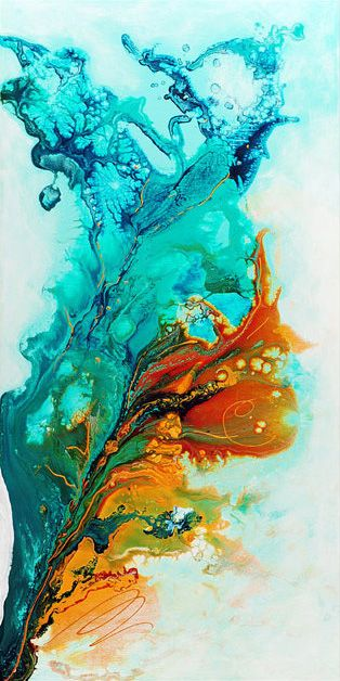 multicolored water effect fluid abstract art
