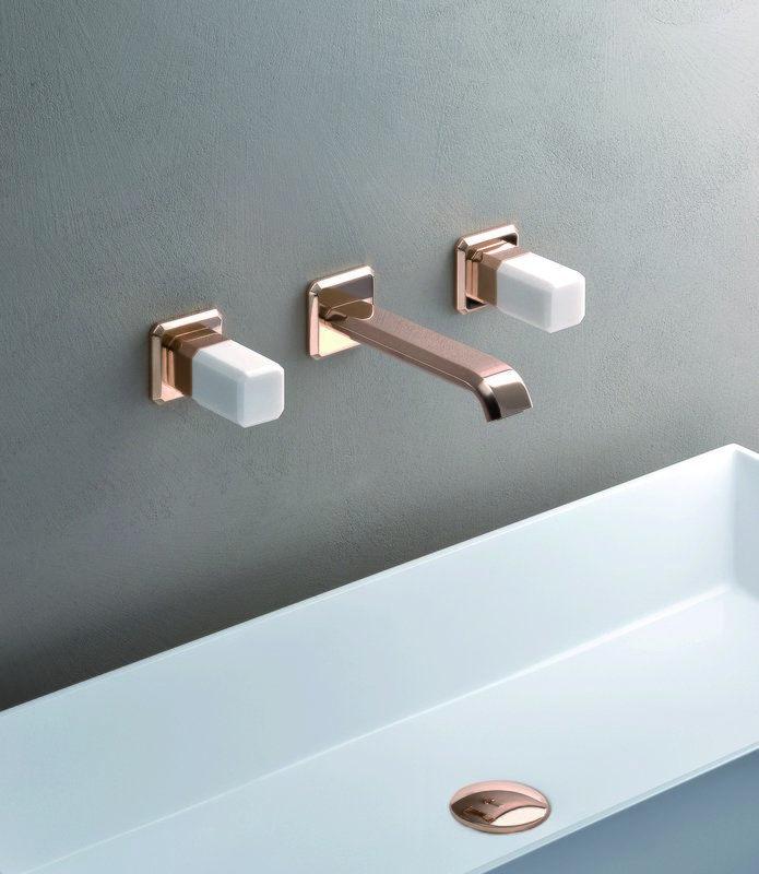 Aquatica Lorena 242 Wall Mounted Sink Faucet Chrome Bathroom Faucets Aquatica In 2019 Wall Mounted Sink Sink Faucets Faucet