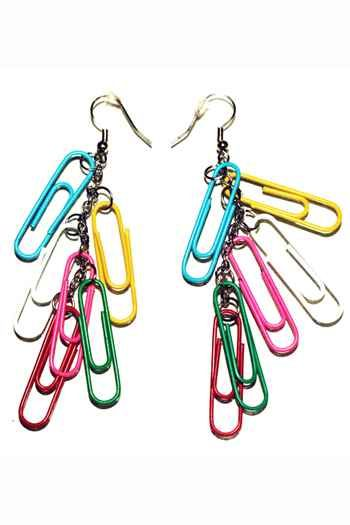 Quirky paper clip earrings from MARiS: The House Of Unique Pieces