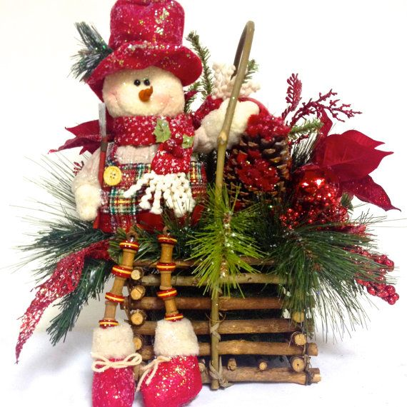 From My #Etsy Shop! Large #Snowman Arrangement Centerpiece TALL #Winter…