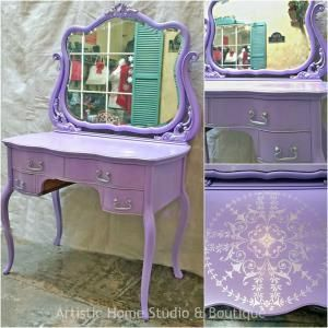 1000+ images about Purple Painted Furniture on Pinterest | Furniture, Purple home furniture and Purple desk