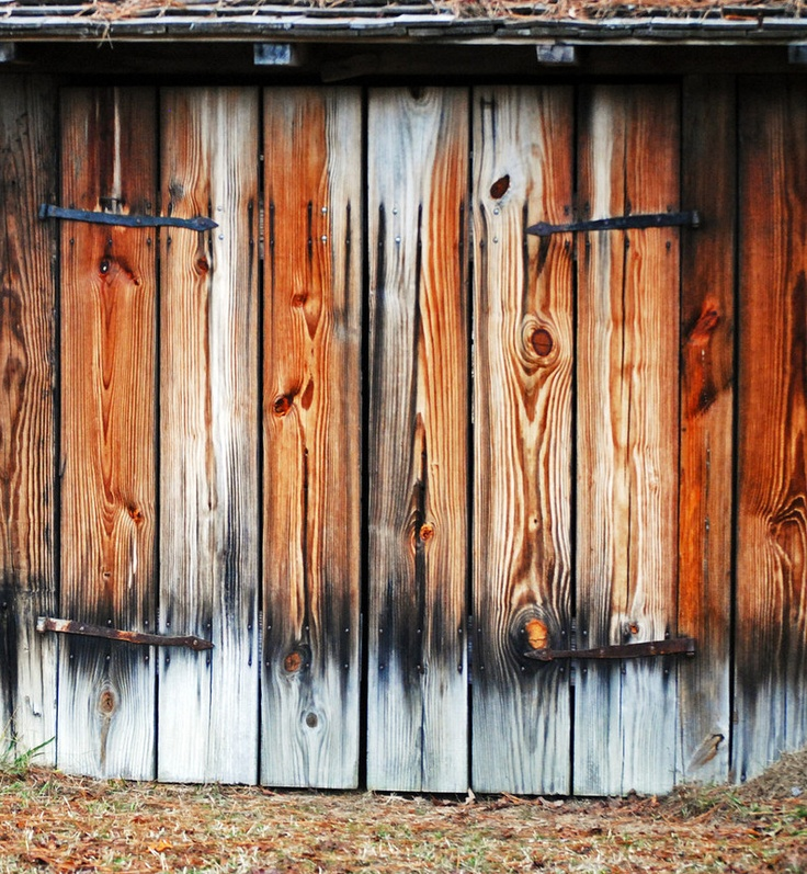 Black Smith Shop Doors - 1700's Colonial French Fort in Alabama