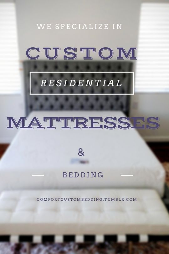 We specialize in making custom mattresses for your home. We also make bedding for your custom mattress and make sure you have the quality, comfort, and support you've always wanted.  Call 954-496-8400 or visit our website comfortcustombedding.com for more information about our company and the materials we use to make our one of a kind products.  #specialize #custom #comfort #comfortable #sleep #sleepy #bed #dreambed #home #homelife #residential #mattress #mattresses #bedding #dream…