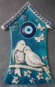 seramik kuşlar duvar süsü ile ilgili görsel sonucu