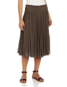 Chaudry Women's Mid Length Skirt Option by Chaudry
