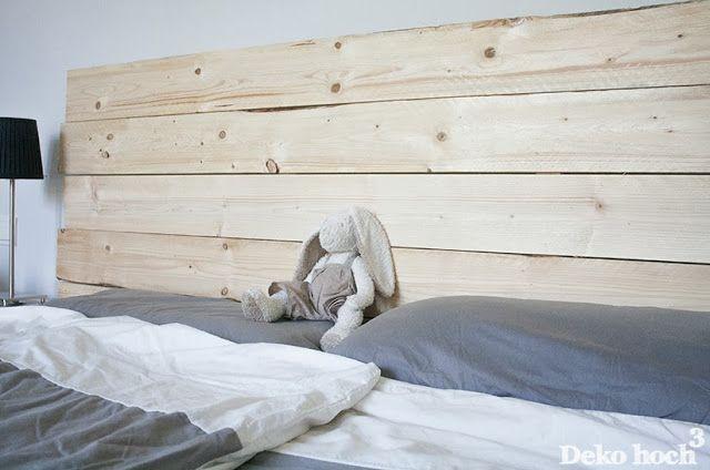 DIY Bettrückwand aus Holz