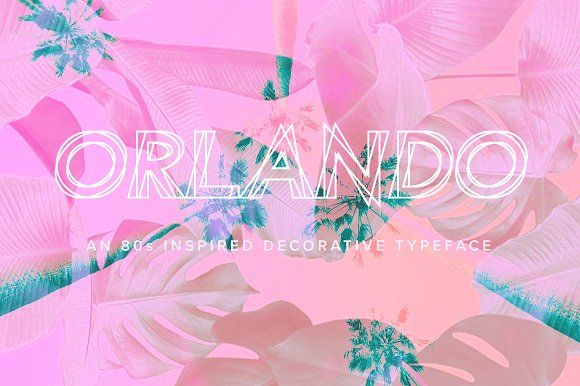 Orlando | An 80's Inspired Typeface by Jen Wagner Co on @creativemarket