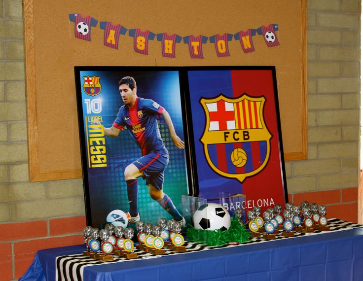 Ashton's 7th Birthday!  Soccer Messi Barcelona
