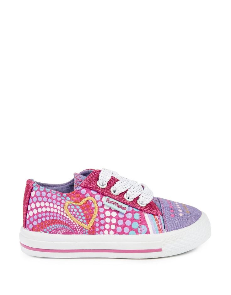 Multi Spots Lace-Up Sneakers