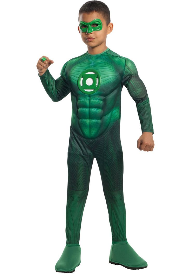 Green Lantern Hal Jordan Deluxe Costume - Child - General Kids Costumes at Escapade