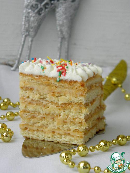 Лимонный торт - (без выпечки из печенья и сгущенки)