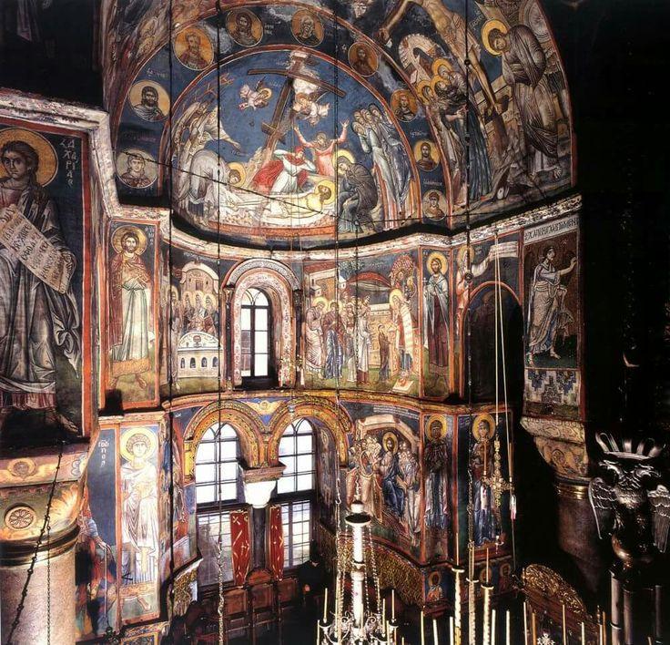 Interno del Katholikon di Monte Athos