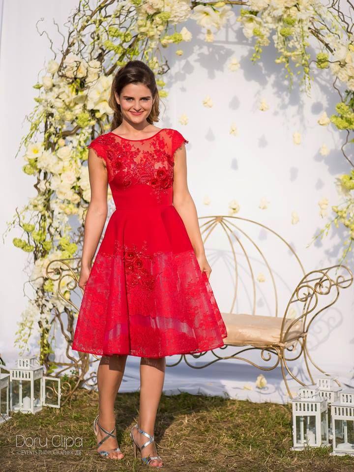 CRISTALLINI #CocktailDress #RedDress #Prom #RedCarpet #Glamour