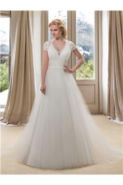 Zipper-up Fall Garden/Outdoor A-line Plus Size Church Spring Lace Wedding Dress
