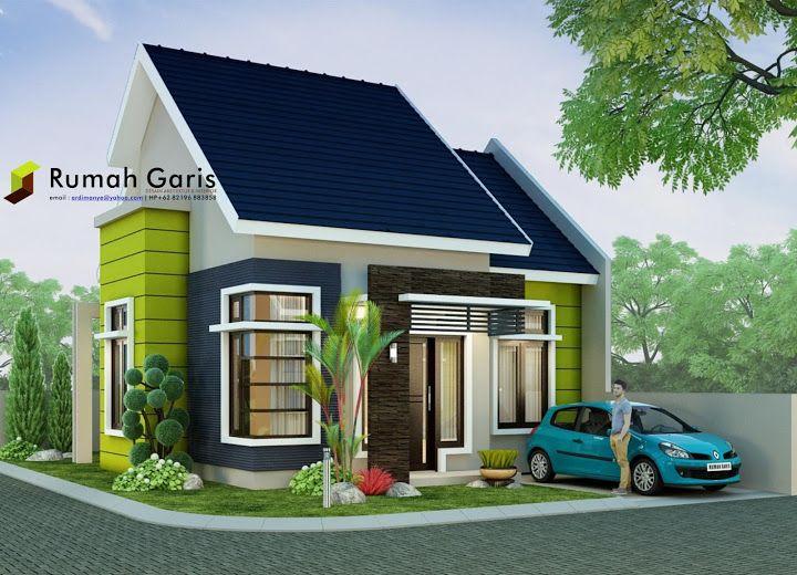 Rumah minimalis modern tipe 60 di lahan sudut 10x15 meter