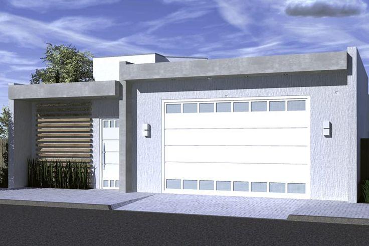 Planta de casa com portão fechado - Projetos de Casas, Modelos de Casas e Fachadas de Casas