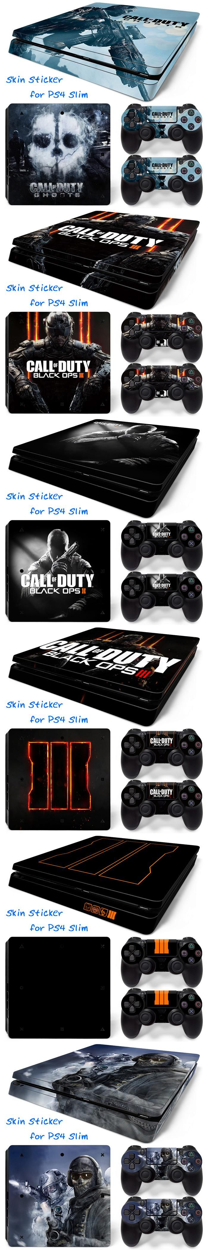 Selling for Sony Playstation 4 Slim PVC Skin Stickers for PS4 Slim Console and Controllers