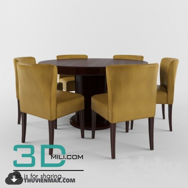 232 Table Chair 3d Models Free Download Chair