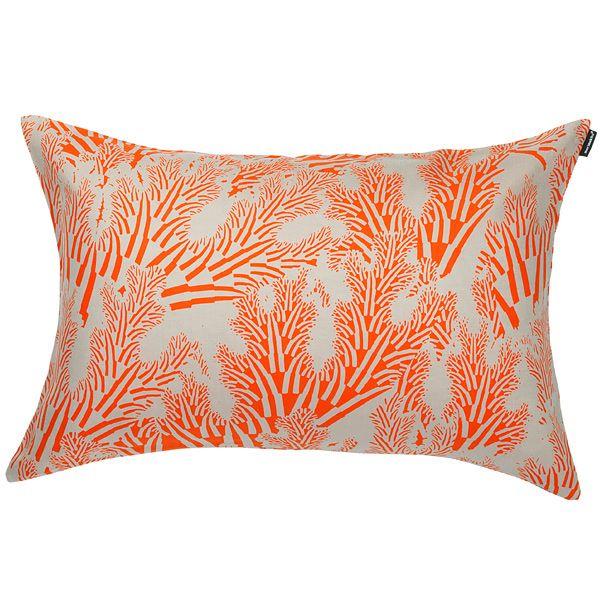 Meriheinä cushion cover 40x60 cm, coral, by Marimekko.
