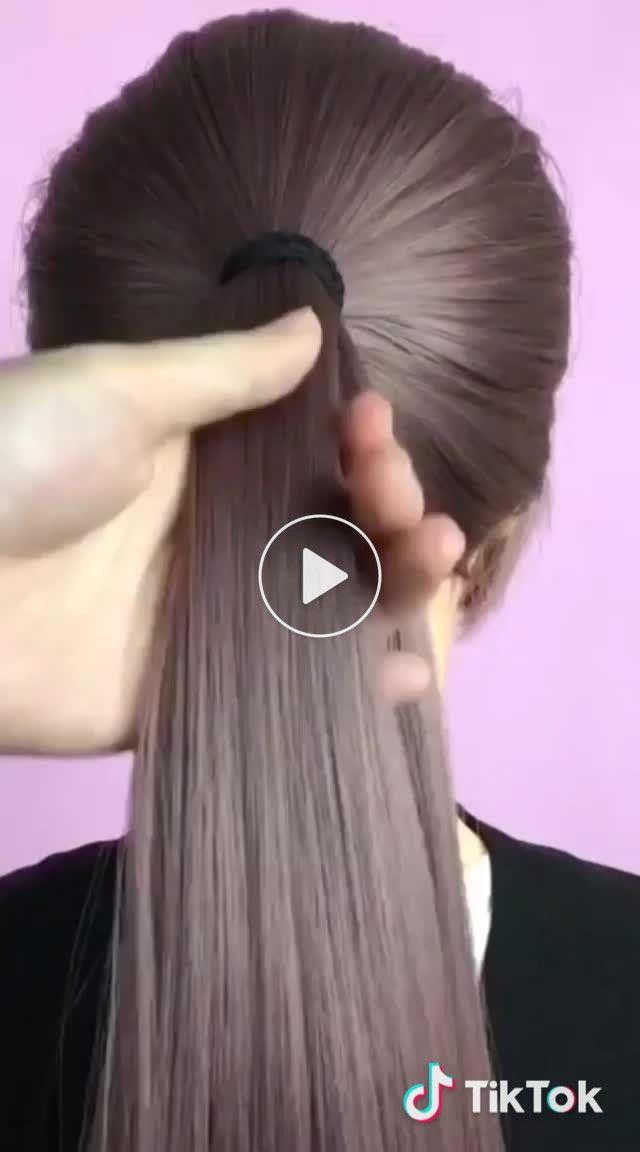 Einfache Frisur, ich hoffe es gefällt euch. ? #messyhair #hair #hairstyle #liv #new #lik