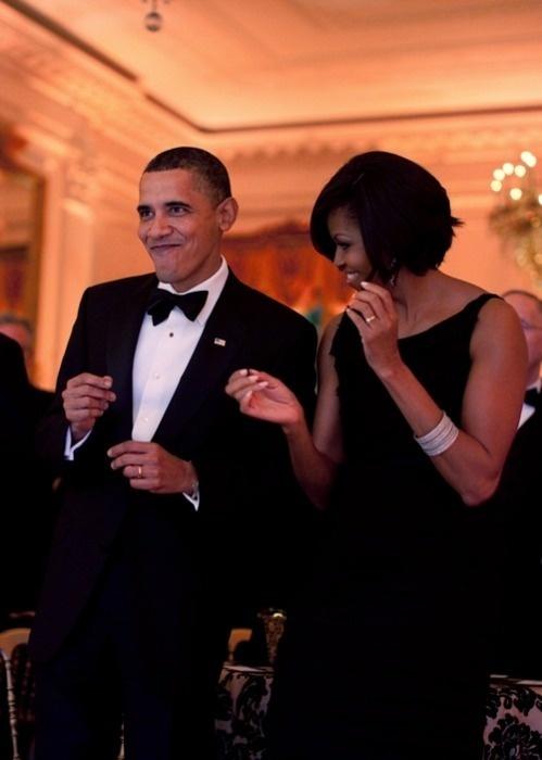 Barack Obama & Michelle Obama (originally spotted by @Celsamzb344 )