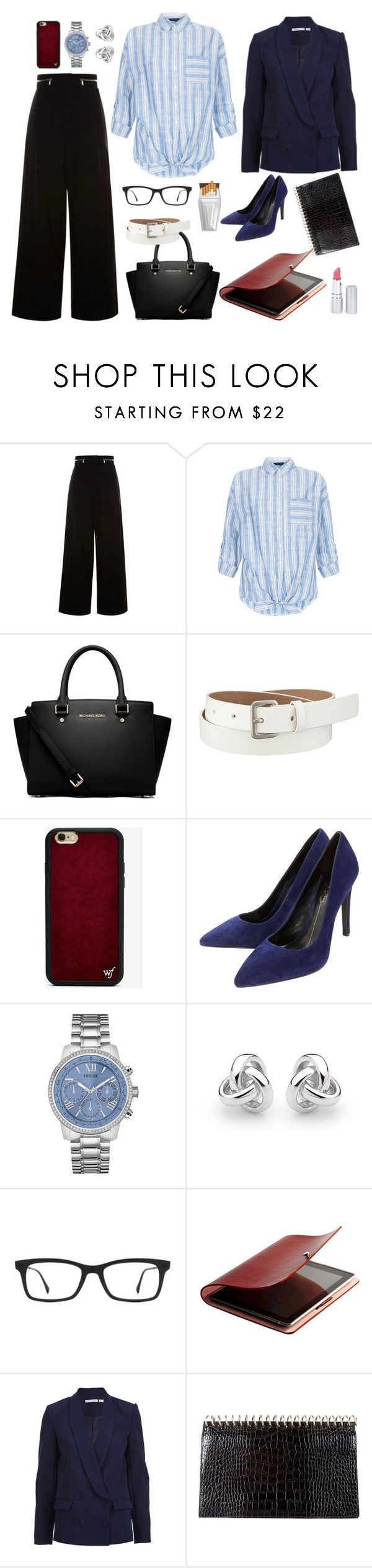 WW - Work Wear by dinyvia on Polyvore featuring Finders Keepers, Proenza Schouler, Lola Cruz, MICHAEL Michael Kors, Alexander Wang, GUESS, Georgini, Uniqlo, Wildflower and Ray-Ban