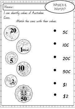 AUSTRALIAN MONEY ACTIVITY WORKSHEETS - TeachersPayTeachers.com