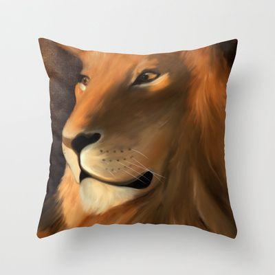 lion Throw Pillow by Mario Laliberte - $20.00