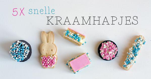 5 snelle kraamhapjes | via BrendaKookt.nl