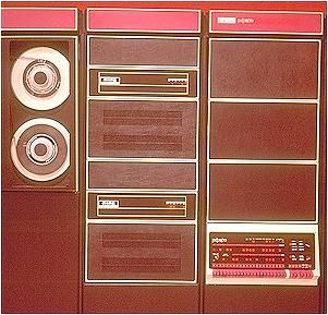 1975 - The PDP-11/70 represented the high end of PDP-11 architecture with the capacity for supporting the speed, addressing range and bandwidth required in large systems applications. It was the first PDP-11 to use cache memory.