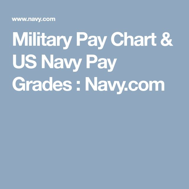 Military Pay Chart & US Navy Pay Grades : Navy.com