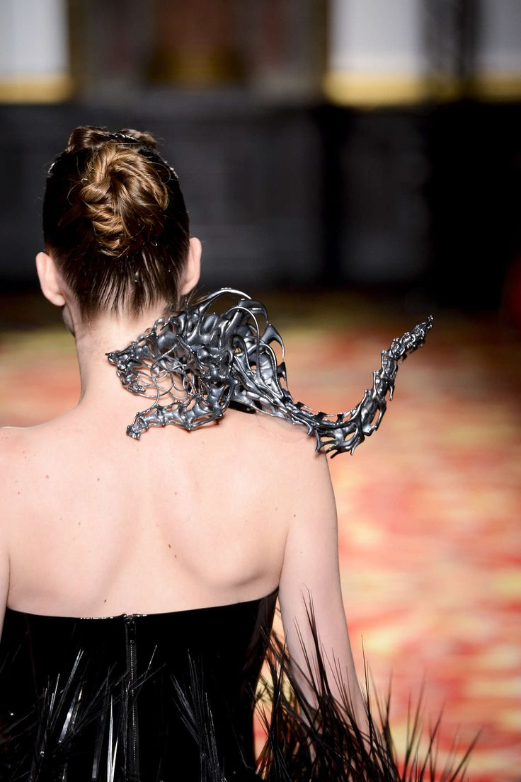 Iris van herpen. For when you need 3d printed shoulder animal couture