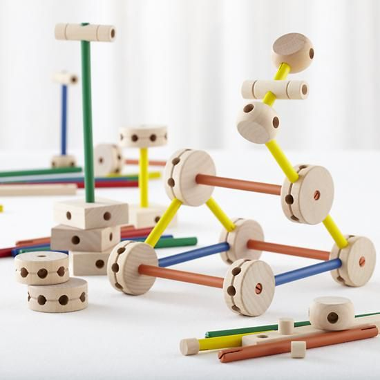 Make the Connection Toy Set in Wooden Toys & Blocks | The Land of Nod